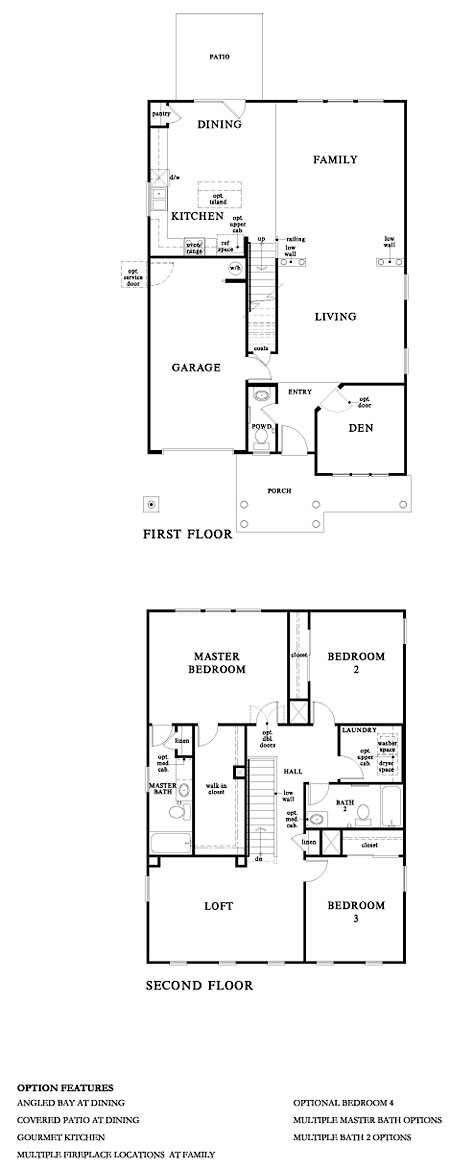 kb homes 2007 floor plans | home plans