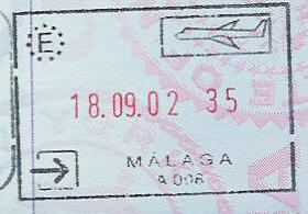 Exit Stamp From Madrid May 8 2011